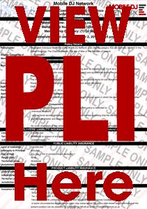 DJ Public Liability Insurance